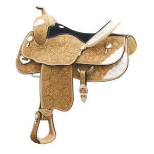 """No. 291356HUNT COUNTY SHOW SADDLE by Billy Cook, 16 or 17"""""""