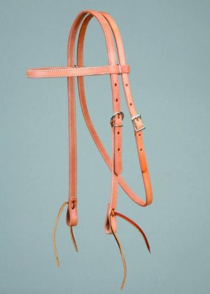 """No. 5-224BOWBAND HEADSTALL, 5/8"""" HARNESS LEATHER"""