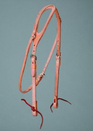"""No. 5-22ONE EAR HEADSTALL, 5/8"""" HARNESS LEATHER"""