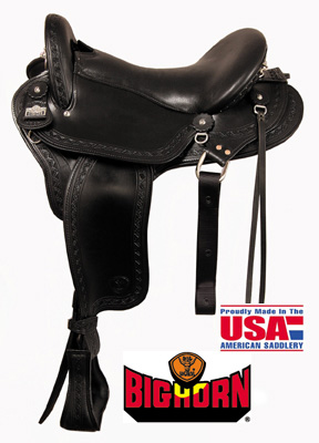 Big Horn A01685, A01687Endurance Gaited Saddle, Flex Tree
