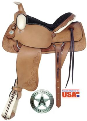 """American No. 757All-Around Deluxe Roping Saddle. 16"""" Seat."""