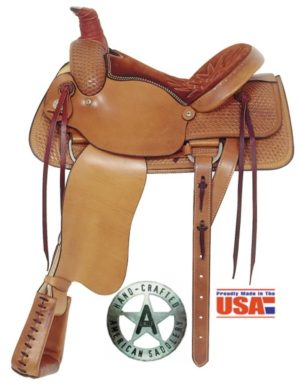 "American No. 754Basket Weave All Around Roper, 16"" Seat"