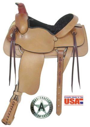 "American No. 756Plain All-Around Roping Saddle, 16"" Seat"