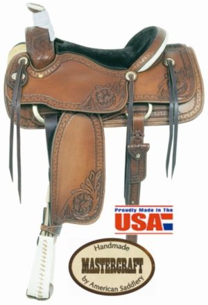 "American No. 110-1Runnin' W Pro Roper Saddle, 15 1/2"" Seat"