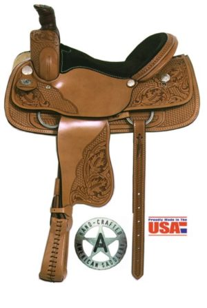 "American No. 1631San Rio Roper Saddle, 16"" Seat, QH Bars"