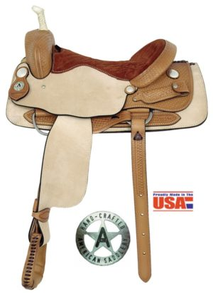 "American No. 1975Basket Weave Cutting Saddle, 16, 17 "" Seat"