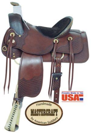 """American No. 1705-3Idaho A Fork Saddle, 16"""" Seat, QH Bars"""