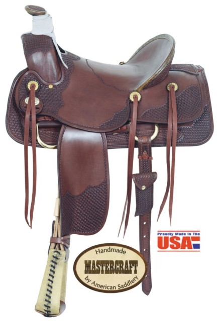 "American No. 1783-2Texas A Fork Saddle, 16"" Seat, QH Bars"
