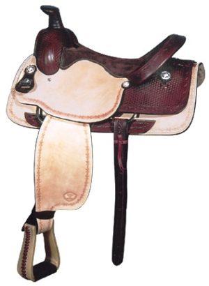 """Big Horn A00828Roper Saddle, QH Bars, 16"""" seat"""