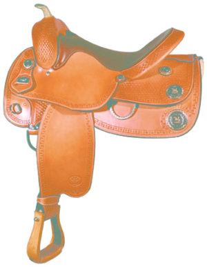 Big Horn A00890Reining Saddle, Flex Tree, Full QH Bars, 16""
