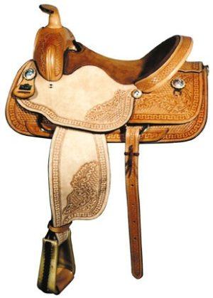 """Big Horn A00881Roper Saddle, QH Bars, 16"""" seat"""