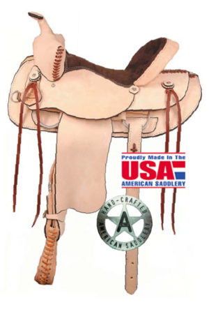 American No. 946Rough Out Shooter Saddle. QH Bars, 16, 17""