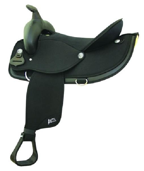 """No. 20536Gaited Horse Round Skirt Nylon Saddle, 16"""" 17"""" Seat"""