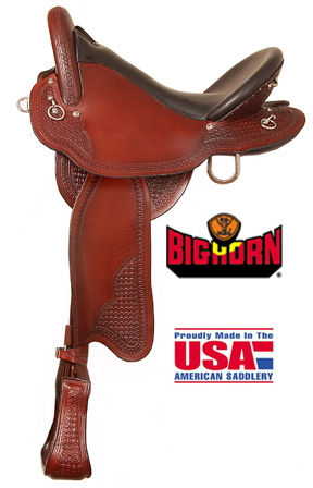 Big Horn A01695Big Horn Endurance Saddle, Gaited Horse BarS