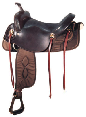 Big Horn No.  A00296-17 1/2DRAFT HORSE BROWN NYLON SADDLE