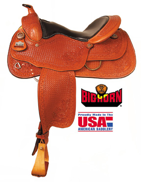 "Big Horn A00863Reining Saddle, Full QH Bars, 16"" Seat"