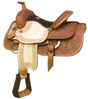 "No 291784Texas Hold Em Roper Saddle. By Billy Cook. 15"", 16"""