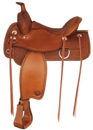 "No. 292TF483Benton Flex Trail Saddle 16"", 17"" Seat QH, FQH"