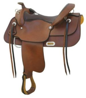 """No 291476Draft Trail Saddle by Billy Cook. 16"""", 17"""" Seat."""