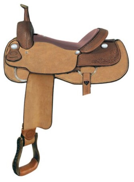 """No 291579Red River Cutter Saddle by Billy Cook. 16"""" 17""""Seat"""