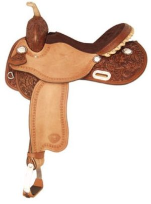 No 292201Turn 'N Burn Barrel Saddle by Tex Tan. 14' or 15""