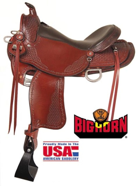 "Big Horn A00935Trail Saddle, 16"" Seat. Quarter Horse Bars"
