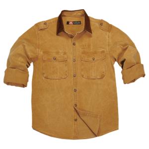 No. 4S07Kakadu Southern Cross 10oz Gunn Worn Canvas Shirt