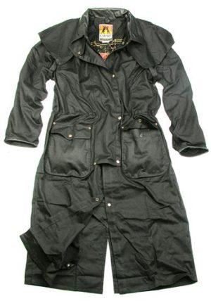 No.5001Kakadu Iron Bark Full Length Trench Coat,12oz Oilskin