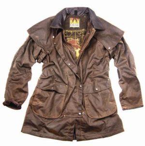 No. 5J05KaKaDu Iron Bark Jacket, 3/4 Length 12oz Oilskin