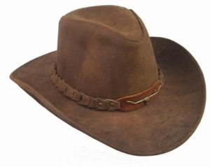 No. 6HW46The Brumby Hat, Distressed Leather, Shapable Brim