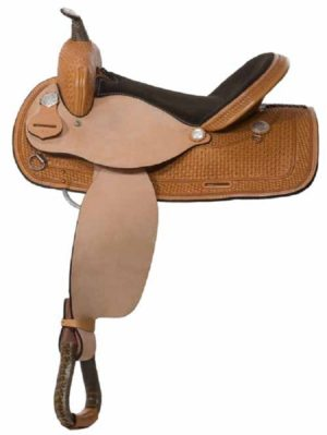"No. 30701Out West Barrel Saddle  14, 15, 16"" Seat"