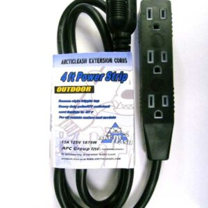 4ft 14/3 Black Outdoor Polar Tri-Tap  All Weather Cord