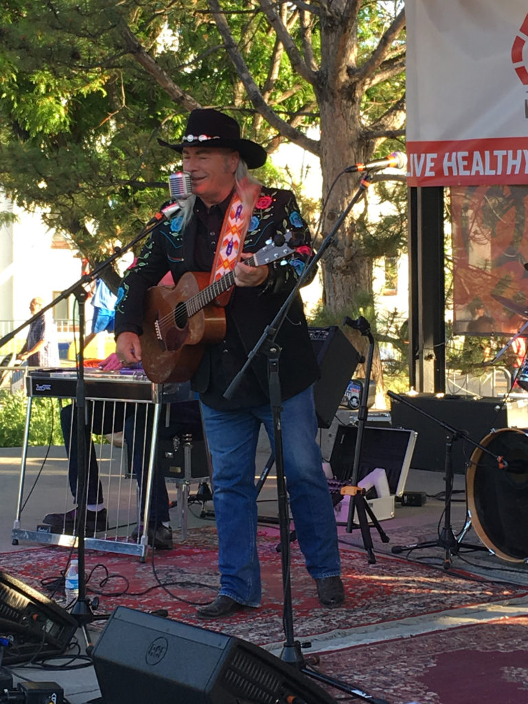 Steve Griggs performing live on stage in Fruita California