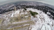 Tomb of Samuel the prophet covered in snow by Amir Aloni