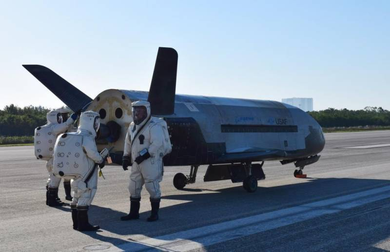 X-37B space drone lands