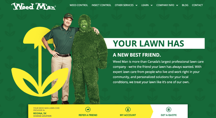 Weed Man Website Redesign
