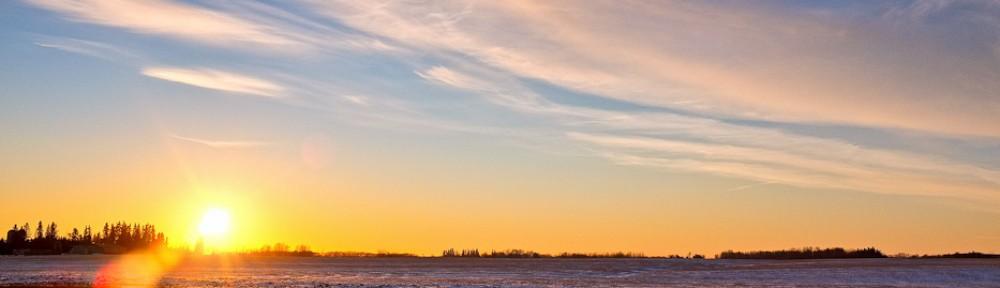 Photo of a beautiful sunset