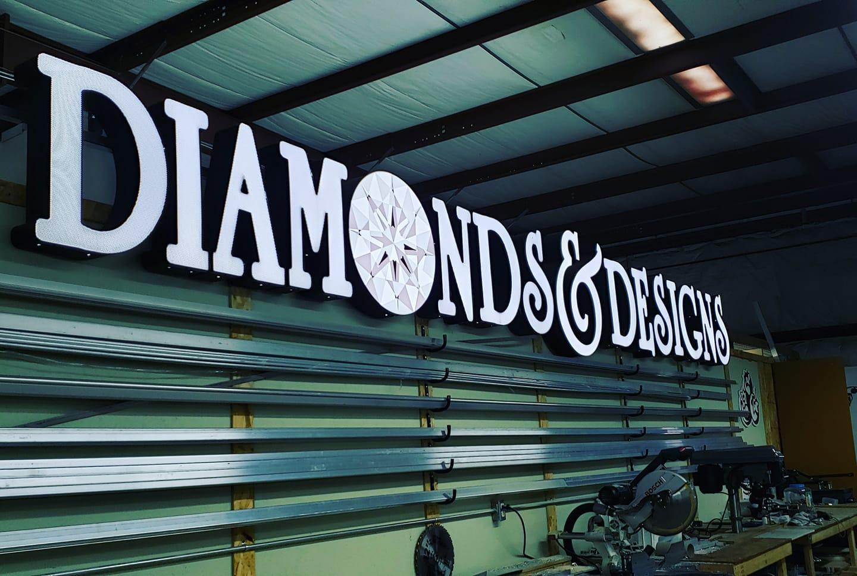 diamonds signage
