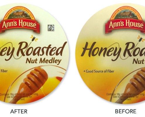 Anns House of Huts Before & After Flexo Quality
