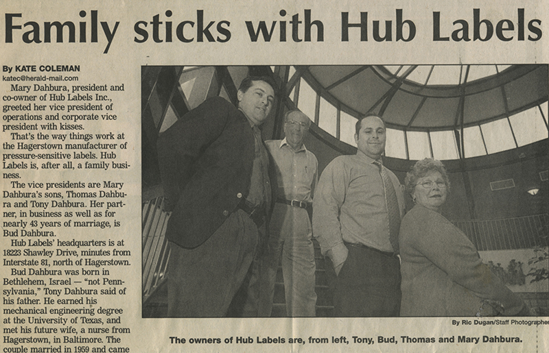 Hub Labels is Family Owned for 40+ Years