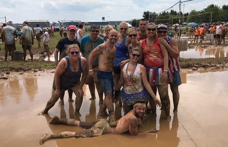 Hub Labels Mud Volleyball in Washington County Maryland