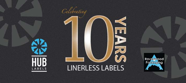 Hub Labels Celebrates The 10 Year Anniversary of Linerless Labels
