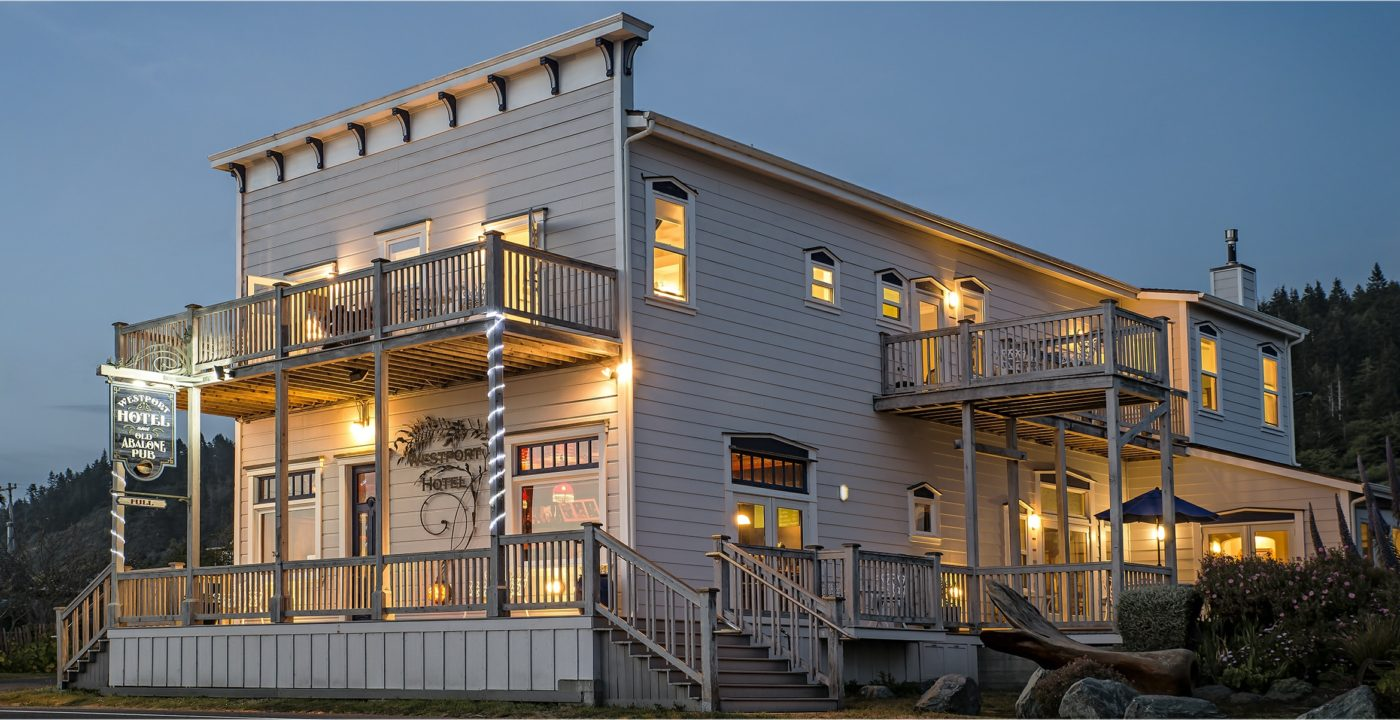 "The Westport Hotel is the welcoming venue for Elope Mendocino's ""Simply Westport"" package."