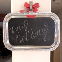 DIY chalkboard tray final