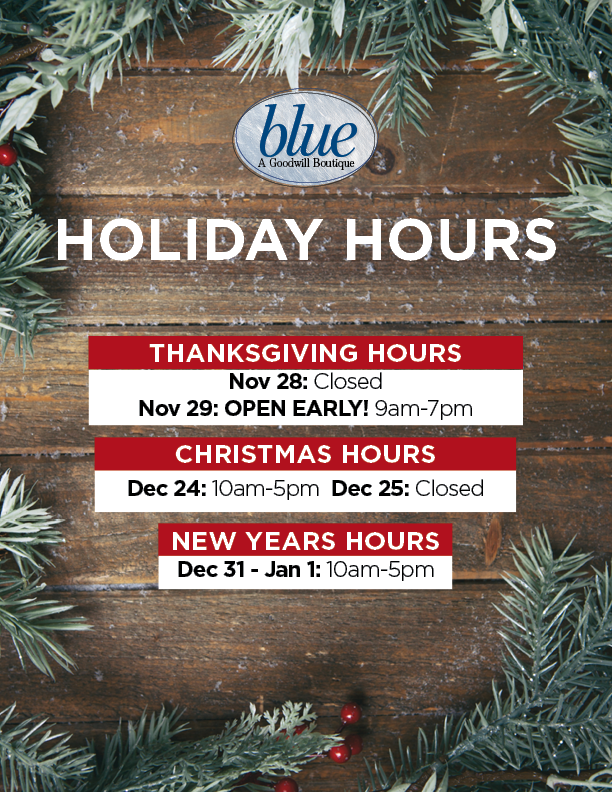 blue holiday hours