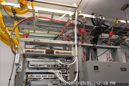 DX0591 ALARM CABLES DRESSED OUT OF LADDER RACK INTO SAUs