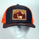 Orange and Black Trucker Llama Hat