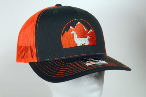 Orange and Black Embroidered Logo Hat