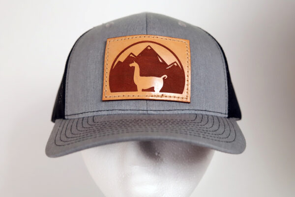 gray and black llama hat