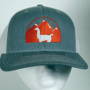 Gray and White Llama Trucker Hat